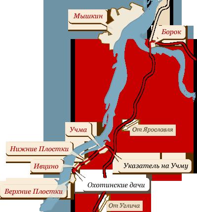 Схема проезда в окрестностях